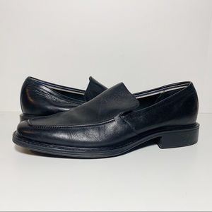 Leather Men's Square Toe Slip Ons Loafers